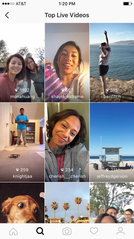 Ontdek alle Live Video Streams op Instagram